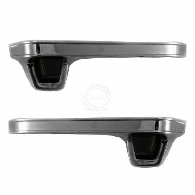 Chrome Outer Outside Exterior Door Handle Pair Set for Chevy GMC Pickup Truck