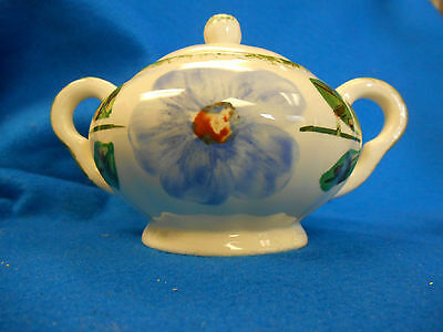 """Blue Ridge SOuthern Potteries Sugar bowl with lid """"Norma"""" pattern"""