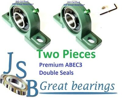 "(Qty. 2) 1"" UCP205-16 pillow block bearing with cast iron housing ucp 205-16"