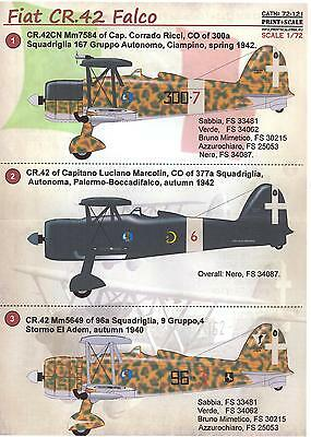 Print Scale Decals 1/72 FIAT CR.42 Italian WWII Fighter