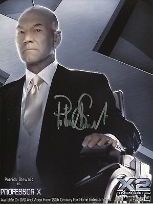 Patrick Stewart Autographed X-Men Charles Xavier Signed Photo With COA + Proof