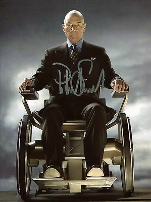 Patrick Stewart Autographed X-Men Charles Xavier Signed Photo With COA + Proof.