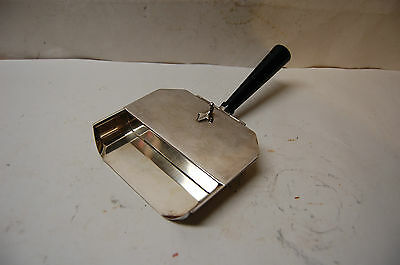 Vintage Sheffield Silverplate Crumb Catcher Silent Butler Pan with Wood Handle