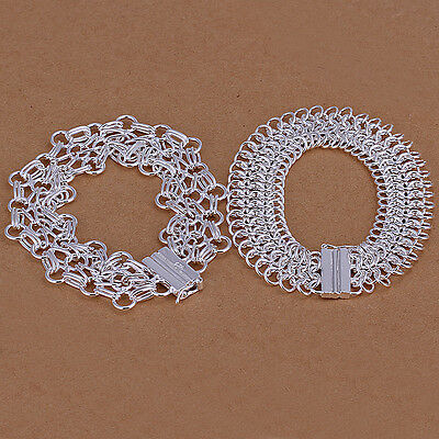 hot! wholesale Sterling solid silver link 2bracelets Jewelry Sets XLSS209
