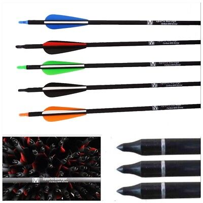 "32, 31.5"",30"", 28"" 26"" & 24""  Fibreglass Archery Arrows Carbon Grade"
