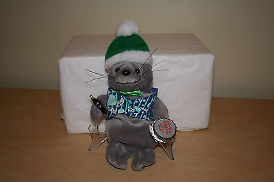 Coca Cola Bean Bag Plush Seal With Coke Vest & Coke Bottle #0207 New W/Tags 1999