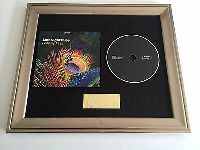 Signed/Autographed Friendly Fires - Late Night Tales Framed Cd Presentation.rare