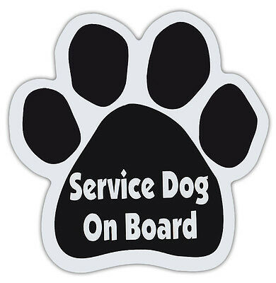 Dog Paw Shaped Magnets: SERVICE DOG ON BOARD | Dogs, Gifts, Cars, Trucks