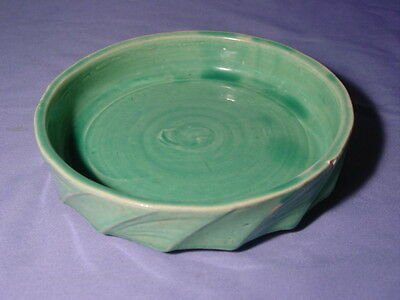 Vintage McCoy Green Water Dish For Planter