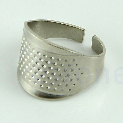 Hot 3X Thimbles Adjustable Size Ring Thimble Sewing Craft Accessories