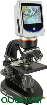 Celestron 1600x LCD Deluxe Digital Microscope Built-in Cam 2MP Soft Case 44345