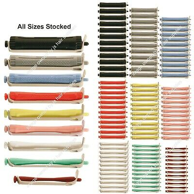 12 x Hair Perming Rollers Professional Rods Sizes 4mm-16mm. WE STOCK ALL SIZES