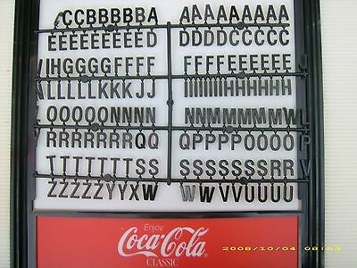 "Origanal 1"" coca-cola black Menu Board Letters set"
