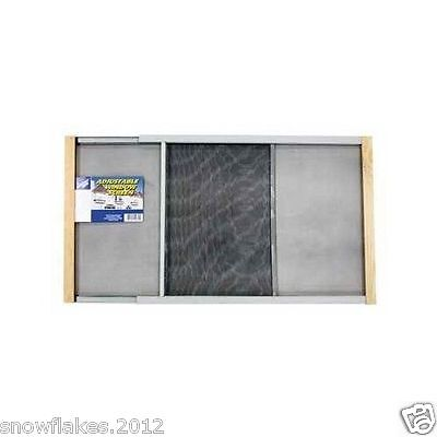 window screen adjustable wood mesh frame window insect mosquito 22-37''