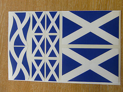 SCOTTISH FLAG STICKERS SHEET SIZE 21cm x 14cm - SALTIRE / SCOTLAND