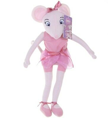 "Official Brand New 17"" Angelina Ballerina Plush Soft Toy Doll Angelina"
