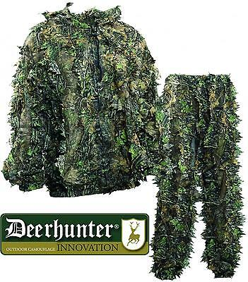 Deerhunter Ghillie Suit Sneaky 3D Woodland Camo Shooting Air Soft Pigeon Rough