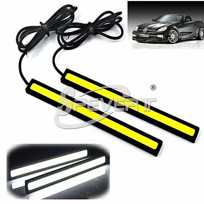 2x Impermeable COB LED DRL 6W 17cm Alta Potencia Coche Luces Diurna Daylight 12V