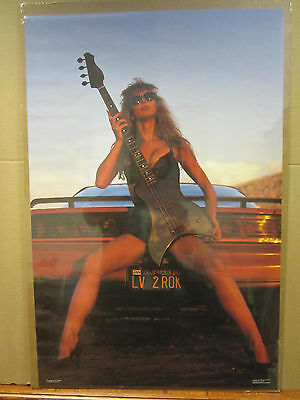 Guitar Girl Michelle Red Poster 24in x 36in