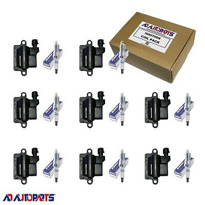 8 ACDelco Spark Plugs + 8 ADP Ignition Coils For LS2, LS4, LS7 Square Coil