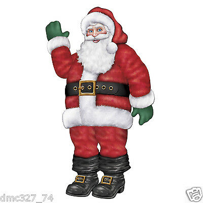 CHRISTMAS Party Decoration Prop JOINTED Poseable Jolly SANTA CLAUS 17 inches