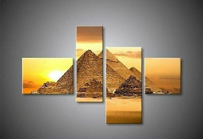 Egyptian Pyramids Hand-painted Decoration Landscape Oil Painting (no framed)