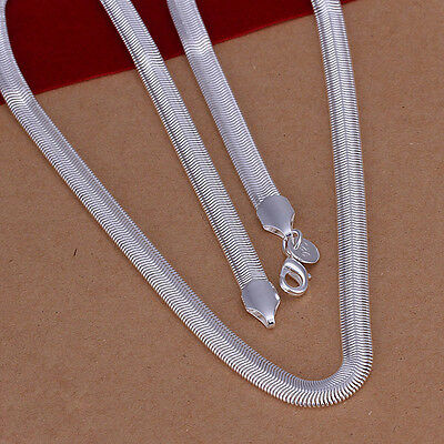 Sterling solid silver fashion jewelry Chain 6mm snake chain Necklace XLSN193