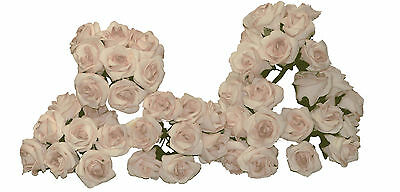 Craft Flowers Rose Rosebud Foam Real Touch Vintage Pink Qty 96 Buds