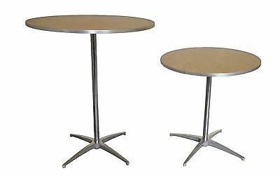 """36"""" Cocktail Bistro Round Wood Tables Bar Table Club Wedding Catering Party ECS"""