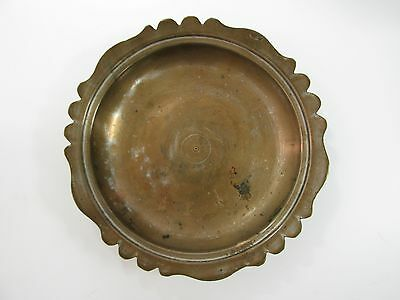 ANTIQUE OTTOMAN TURKEY TURKISH METAL MARKED BOWL COPPER?? 19c x