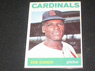 Bob Gibson 1964 Topps 460 Cardinals Authentic Vintage Baseball Card Hof Legend