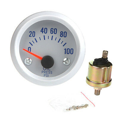 "2"" 52mm DIGITAL LED OIL TEMP PRESSURE METER GAUGE WITH SENSOR CAR AUTO 0-100 PSI"