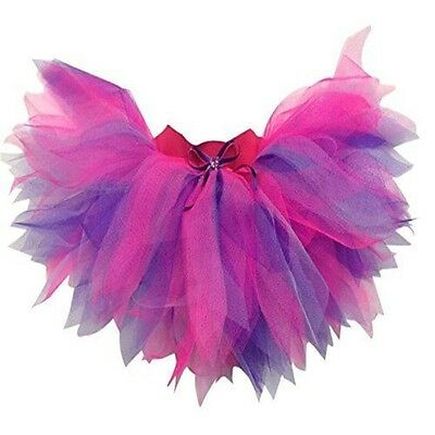 Neon Tutu Skirt Pink Purple 80's Fancy Dress Hen Party Fun Run 6 Layer Plus Size