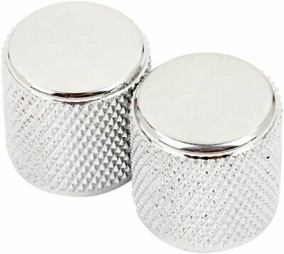 Genuine Fender Tele Telecaster/P-Bass Chrome Guitar Barrel Knobs - Pack of 2