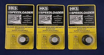 3 Pack HKS 10-A Speed Loader 38/357 Mag S&W Taurus New In Package 10-A 3-PK