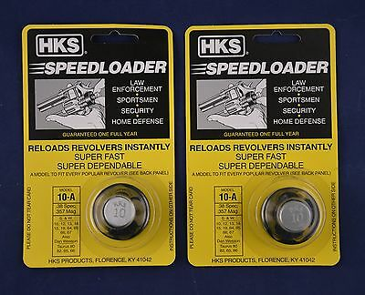 2 Pack HKS 10-A Speed Loader 38/357 Mag S&W Taurus New In Package 10-A 2-PK