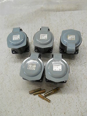 Woodhead Dw520R5 Receptacle, 20A, 347/600 Vac, 5 Wire, Lot Of 5, Used