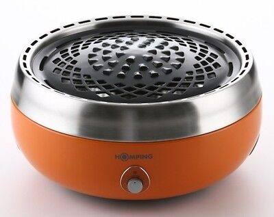 Homping Grill Anyone Anywhere Charcoal Grill  Convenient Orange