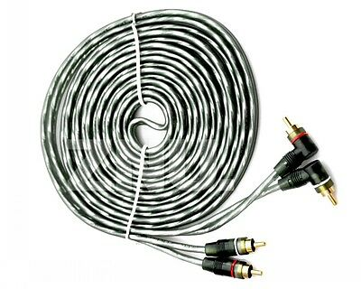Brand New 15ft Car Audio Stereo Inner Connect RCA Wire Cable -Gray