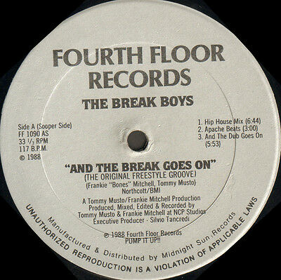 THE BREAK BOYS - And The Break Goes On - Fourth Floor 1988 Usa FF 1090