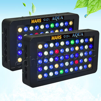 2PCS 165W Dimmable LED Aquarium Lighting Full Spectrum Reef Coral Marine SPS LPS