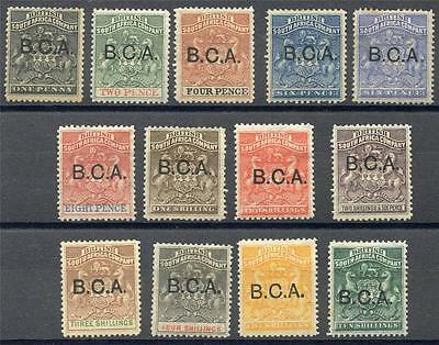 British Central Africa Scott# 1-13 Sg# 1-13 Mint Hinged As Shown