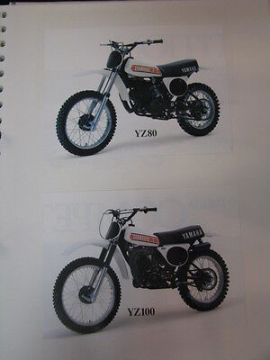 Clippings Yamaha YZ80 / 100 / 125 / 250 / 400 (jaren 70 / 80 GER/GBR/NED)