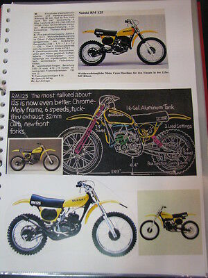 Clippings Suzuki RM125 / 250 / 370 / 400 / SP370 (jaren 70 / 80 GER)