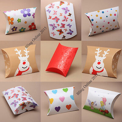 6pcs PILLOW PACK GIFT FAVOUR BOX WEDDING PARTY JEWELLERY VALENTINE ANNIVERSARY