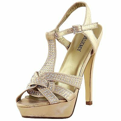 8b2f9a987f9 New women s shoes rhinestones stilettos open toe gold evening prom wedding