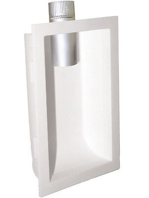"""Deflect-O DVBOX Dryer Venting Box with Aluminum Connector, 7.38"""" x 11"""""""