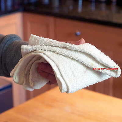 5.5lb cotton terry cloth cleaning towels shop rags jumbo 16x19 super heavy duty