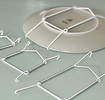 Plate Wire Hanging White Hanger Flexible With Spring Wall Display Art Decoration