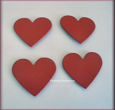 HEART METAL MAGNETS SET OF 4 EMBELLISH YOUR STORY by ROEDA™ FREE U.S. SHIPPING
